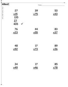 Multiplication Word Problems Grade 5 Worksheet Examples