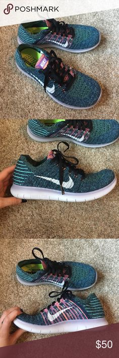 Nike Free Run Flyknit These are so comfortable. Worn twice, and in brand new condition. Nike Shoes Athletic Shoes