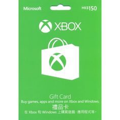 Xbox Gift Card HKD 150 digital 23.99  Redeem your card to your Hong KongMicrosoft account. Simply login to your account and enter your 25-digit card number. To create a new account, visit https://www.commerce.microsoft.com. You must be 13+. The full card value will be applied to your Microsoft account and may be used for eligible purchases (exclusions apply) made directly at Xbox Games, Xbox Music, Xbox Video, and other select Microsoft online stores.