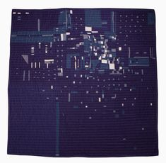 "Heidi Parkes.  Quilt art. ""Night Flight no. 1"""