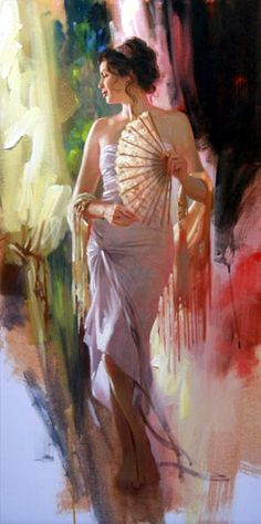 """""""Beauty And Lace"""" 36x18 by Richard S. Johnson"""