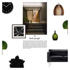"""""""Dark Jungle"""" by nudenim ❤ liked on Polyvore featuring interior, interiors, interior design, home, home decor, interior decorating, Lemnos and modern"""