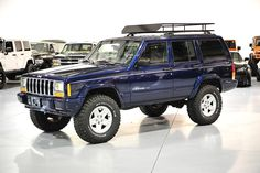 Lifted Cherokee XJ For Sale / Cherokee XJ For Sale / Cherokee Sport — Davis Autosports Jeep Cherokee Lift Kits, Jeep Grand Cherokee Zj, Cherokee Laredo, Jeep Wrangler Lifted, Jeep Xj, American Restoration, Blue Jeep, Cherokee Limited, Autos