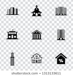Find Vector House Buildings Icons Set Residential stock images in HD and millions of other royalty-free stock photos, illustrations and vectors in the Shutterstock collection. Building Icon, Building A House, Pictogram, Business Flyer, Icon Set, Royalty Free Stock Photos, Real Estate, Symbols, Abstract