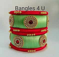 #wedding #silk #silk thread bangles #silk thread #jewellery #bangels