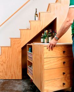 escaleras para colocar un bar