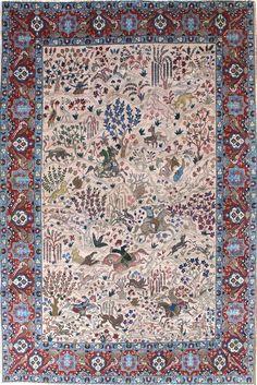 Persian Tabriz rug, 8'4 x 11'9, Circa 1930, Landry and Arcari gallery