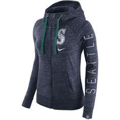 Women s Seattle Mariners Nike Heather Navy Vintage Full-Zip Hoodie b6f691ac33e71