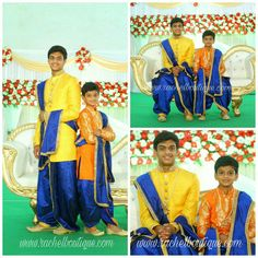 Boys dhoti Kurta outfits for function. Designed and customised by Rachel Boutique Ethnic Wear For Boys, Kids Indian Wear, Half Saree Function, Function Dresses, Party Wear Indian Dresses, Indian Gowns, Kids Dress Wear, Kids Wear, Boys Party Wear