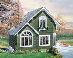 Beautiful cottage floor plan. 600 sq ft main level with 300 above. Loft. Just lovely.
