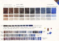 Jane Blundell: Watercolour Comparisons 1 Ultramarine Blue PB29.