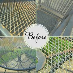 How to Refinish Wrought Iron Patio Furniture is part of Painting patio furniture - Wrought iron patio furniture has a timeless style IF you maintain its finish The good news is that it is super easy and inexpens Refinished Patio Furniture, Painting Patio Furniture, Patio Furniture Makeover, Metal Patio Furniture, Patio Furniture Cushions, Iron Furniture, Patio Chairs, Garden Furniture, Furniture Ideas