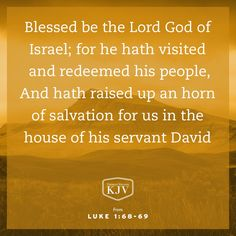 KJV Verse of the Day: Luke 1:68-70