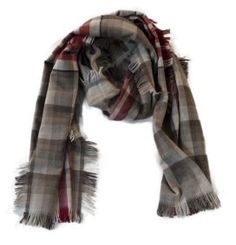 Scarf wool cashmere checked ErmesOutfit.