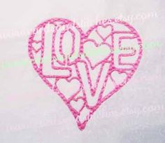 Love Heart Embroidery - Valentine Heart Embroidery - Heart - Machine Embroidery Design - Instant Download - 4x4 and 5x7 - Seven formats by cardsandstitches on Etsy