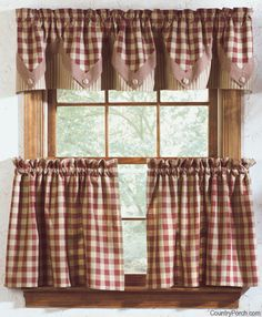 York Lined Point Curtain Valance  These would look great in my kitchen.