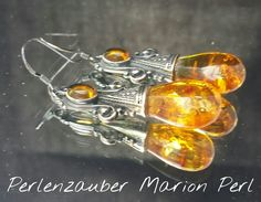 Edle große Bernstein Ohrringe 925 Sterling Silber von Perlenzauber-Marion Perl auf DaWanda.com