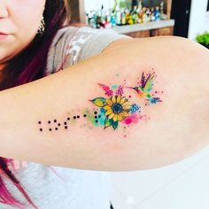 If you are looking for a new tattoo design and you want something extraordinary then look no further than the watercolor tattoos. Check out these 70 stunning watercolor tattoo designs & ideas and get some inspiration! Mom Tattoos, Body Art Tattoos, Small Tattoos, Tattoos For Women, Tatoos, In Memory Tattoos, Hummingbird Tattoo Watercolor, Small Hummingbird Tattoo, Watercolor Tattoos