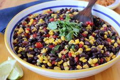 Zesty Black bean and Sweet Corn Salad