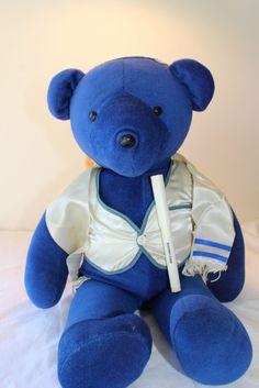 North American Bear VIB 1979 Blue Maitzvah Jewish Bear Bright color #GreenTennisBear