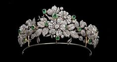 Close up of the Mellerio Floral tiara of the Leuchtenberg family, descendants of Eugéne de Beauharnais, son of the Empress Joséphine. Description from pinterest.com. I searched for this on bing.com/images