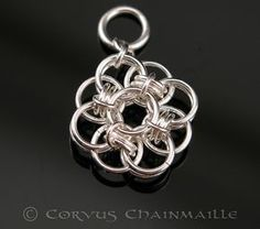 Helm Rose pendant. by Redcrow at Corvus Chainmaille, via Flickr
