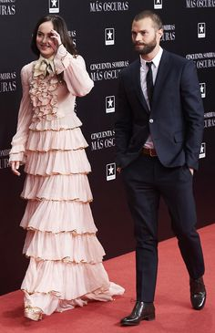 Dakota Johnson, Jamie Dornan attend the premiere of 'Fifty Shades Darker' at Kinepolis Cinema on February 8, 2017 in Madrid • Celebrity WOTNOT ------------------------ For further information on this story and image please visit www.celebritywotnot.com. These Images are copyrighted to Atlantic Images. No use without permission. Please contact Atlantic Images for licensing