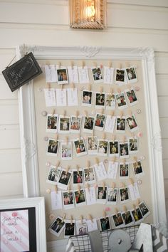 Nice idea to have guests take Polaroid photos & put them on display for all to see❣ Beautiful summer wedding at the Winfield Inn—Caroline Joy Photography❣ stylemepretty.com
