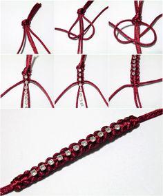 Image detail for -The easiest method on how to make macrame bracelets adjustable ...