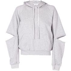Maurie & Eve Exposure Hoodie ($98) ❤ liked on Polyvore featuring tops, hoodies, jackets, sweaters, marle, hoodie top, lace hooded sweatshirt, boyfriend girlfriend hoodies, sport tops and lace top