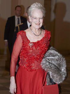 Margarita de Dinamarca fue Reina de Rojo en Christianborg en la gala de las Artes y la Cultura
