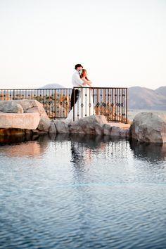 southern california sunset wedding couple