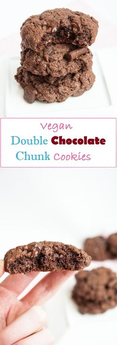Vegan & Healthy Double Chocolate Chunk Cookies + an interview with VFR on MyWifeMakes.com #dessert #eatclean #coconut oil