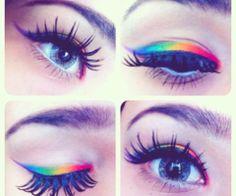 (Always a fan of the bright eyeshadow. :))