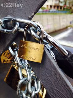 Love Locks Bridge in Cluj Napoca - 22Rey - #love #locks #loversbridge #cluj #romantic Bridge, Personalized Items, Love, Heart, Romanticism, Amor, Bridges, El Amor, Bro