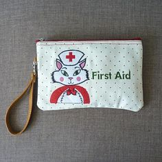 Kate Garey Favourites · Nurse Kitty Cosmetic Pouch   Clutch  firstaidkit   nurse  makeupbag  emergencymakeup  cats 960dab019e914