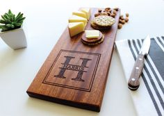 goat cutting board or cheese board handcrafted from mixed