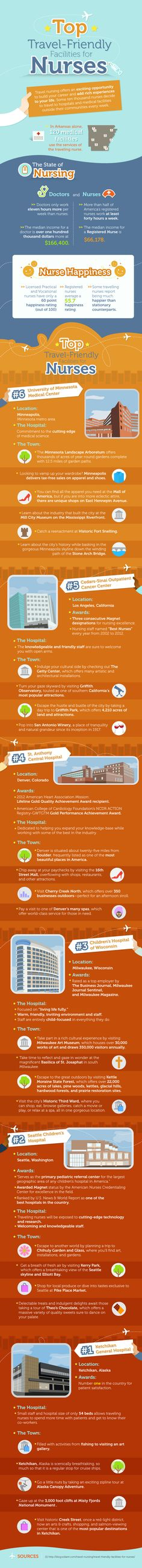 infographic the top travel friendly facilities for nurses - Nursing Student Resume