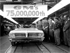 GM's 75,000,000th car rolling off the assembly line.