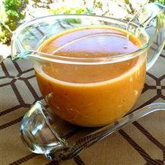Make-Ahead Turkey Gravy Allrecipes.com  The best gravy ever!!