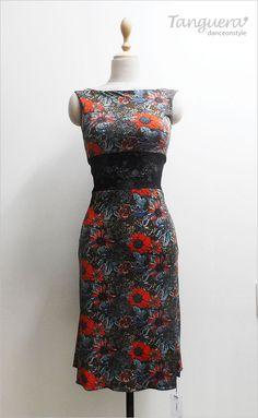 OP323 Argentine tango dress, tango skirt, tanguera dress, tanguera skirt, 땅고드레스, 땅고스커트, 탱고드레스 'Tanguera' tanguerastyle.com