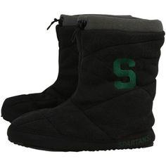 Michigan State Spartans Ladies Black Fleece Slipper Booties $35