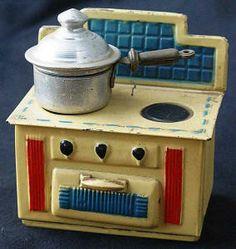 fogão antigo de brinquedo