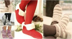 How To Knit Slippers For Christmas
