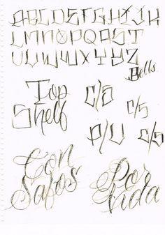 Bj Betts: Lettering Guide 1, 2, 3..