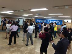 '재미와 감동이 넘치는 유익한 연수!' 주네스코리아 석세스시스템에서 실시한Jeunesse University... 1일차 젊은리더들이 이끄는 댄스파티... 20140425.장소 양지파인리조트