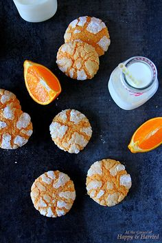 Orange Crinkle Cookies (with fresh juice and zest)