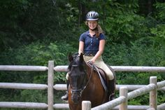 Riding  - an integral part of summer at Camp Runoia!