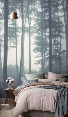 Amazing-Small Bedroom-Decor-Ideas Do you have a small bedroom? Then this is the perfect ideas for you. Great ideas for usefulness Small Bedroom Decor. Gray Bedroom, Trendy Bedroom, Home Decor Bedroom, Master Bedroom, Bedroom Furniture, Decor Room, Furniture Ideas, Bedroom Colors, Tranquil Bedroom