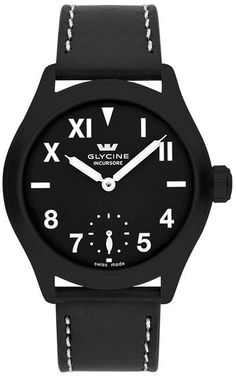 Glycine Watch Incursore II 44mm Manual #bezel-fixed #bracelet-strap-leather #brand-glycine #case-depth-10-3mm #case-material-black-pvd #case-width-44mm #delivery-timescale-4-7-days #dial-colour-black #gender-mens #luxury #movement-manual #official-stockist-for-glycine-watches #packaging-glycine-watch-packaging #style-dress #subcat-incursore #supplier-model-no-3923-99l-lb9b #warranty-glycine-official-2-year-guarantee #water-resistant-100m